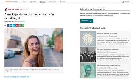 Anna Kajander er ute med en sabla fin debutsingel