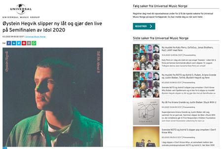 Øystein Hegvik slipper ny låt og gjør den live på Semifinalen av Idol 2020