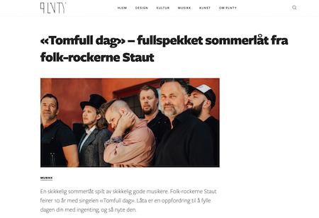 Fullspekket sommerlåt fra folk-rockerne Staut. (Plnty, Jun 12, 2020)