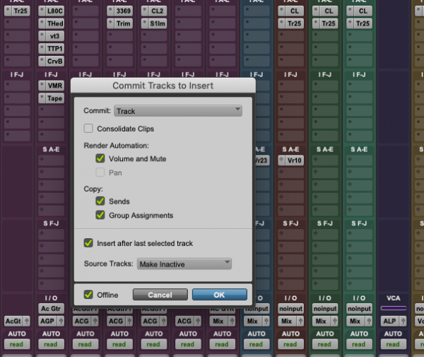 Keep, or print, important plug-ins | Pro Tools screenshot | Mix Prep Guide | Mixed by Jonas Kroon – Music Mixer, Mixing Engineer, Mix Engineer | #mixedbykroon