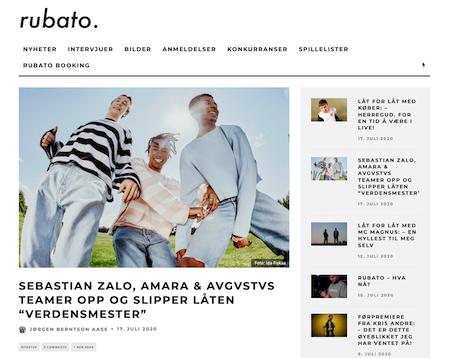 Sebastian Zalo, Amara & AVGVSTVS teamer opp og slipper låten «Verdensmester»