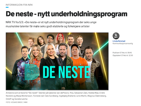 De Neste - Nytt Underholdningsprogram