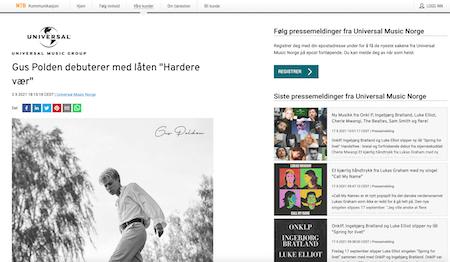 Gus Polden debuterer med låten «Hardere Vær»