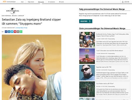 Sebastian Zalo og Ingebjørg Bratland slipper låt sammen!